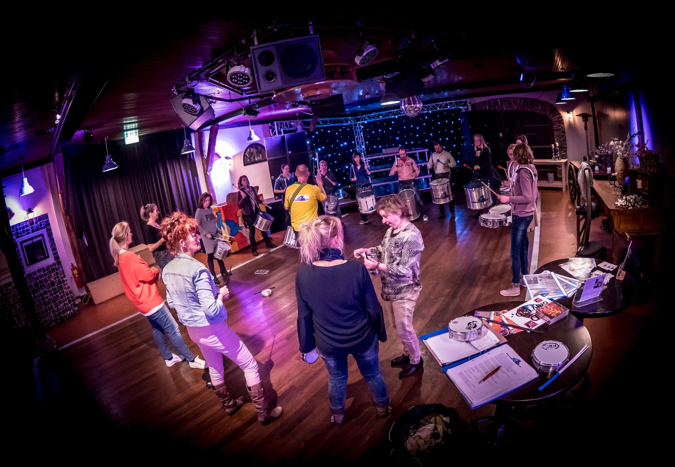 De percussie workshop in Geldrop is voor iedereen toegankelijk
