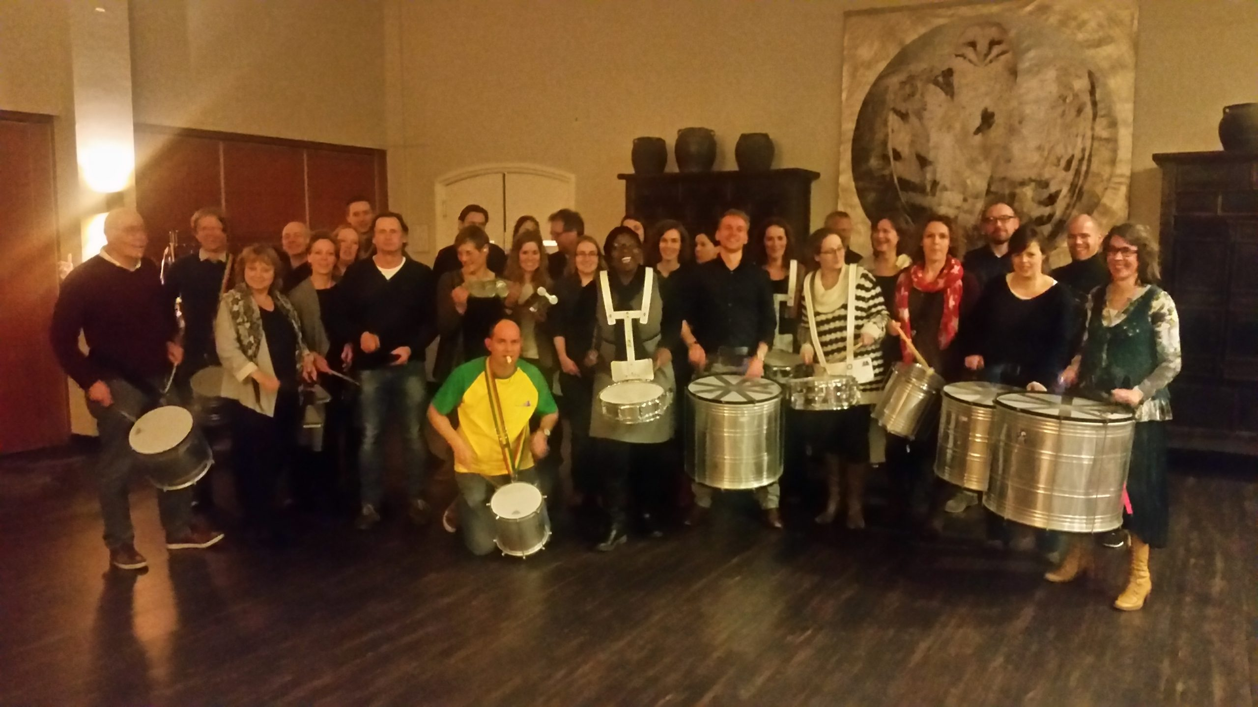 Percussie workshop op locatie bij Party centrum in Roermond.