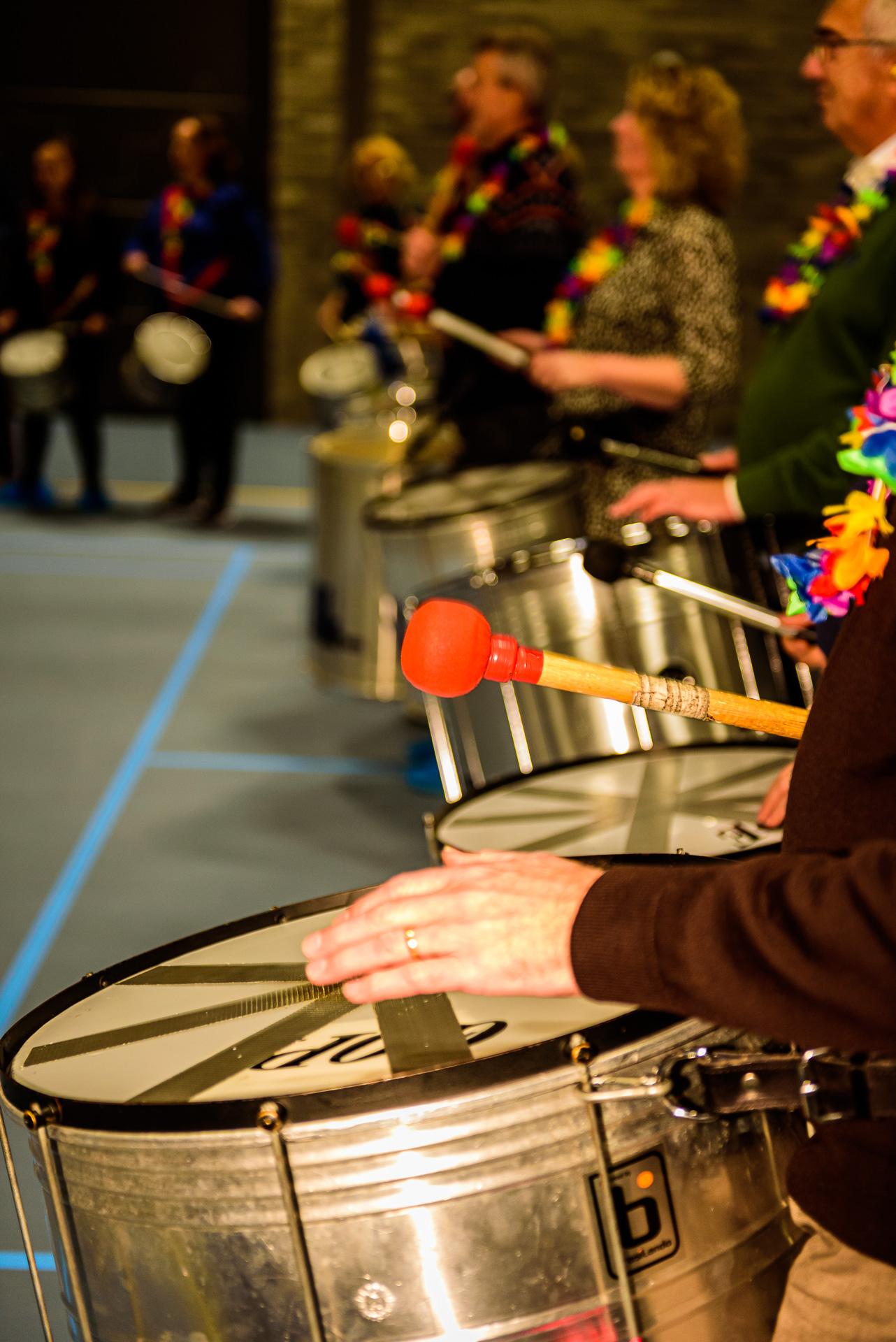 Percussie4fun percussie workshop op locatie in Deventer