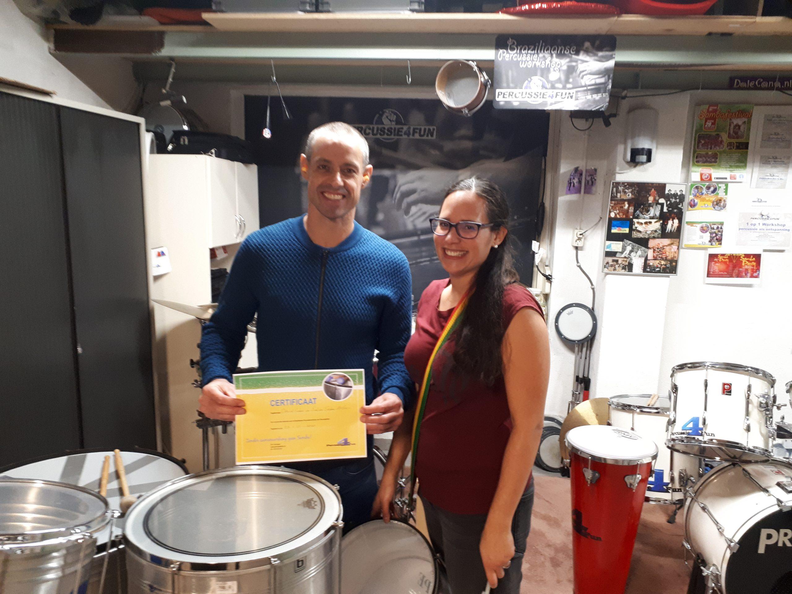 Samba Percussie workshop voor 2 personen in Oss