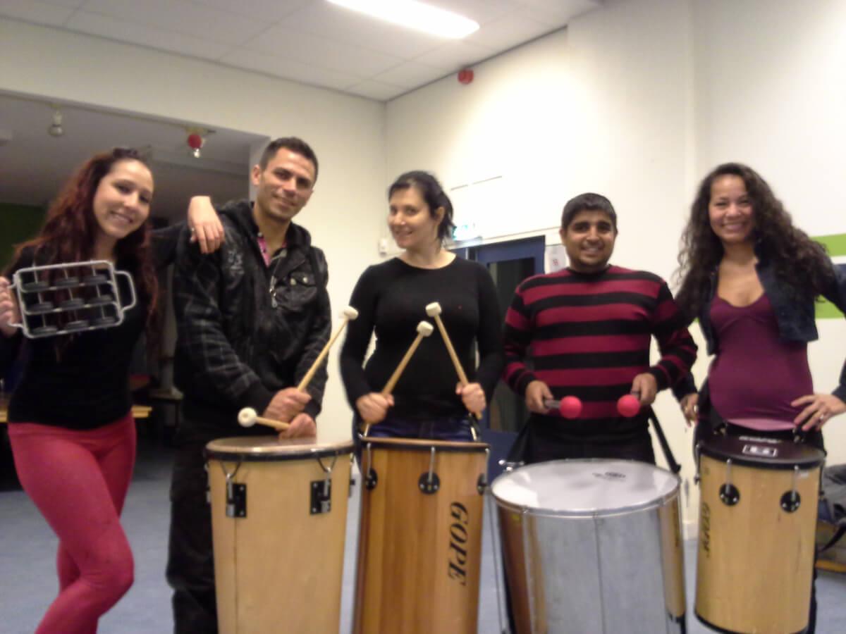 Djembe en tropische percussie workshops