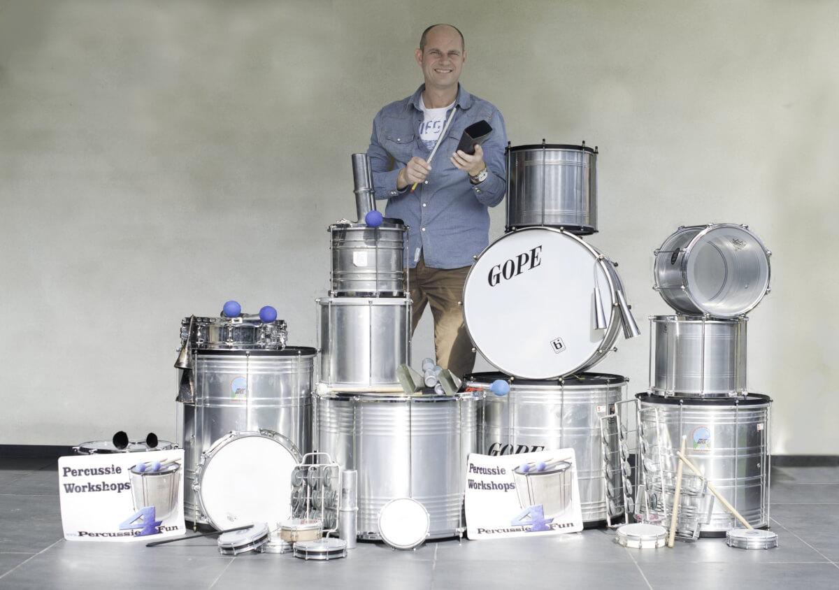 Meer als 10 verschillende drum en percussie workshops mogelijk