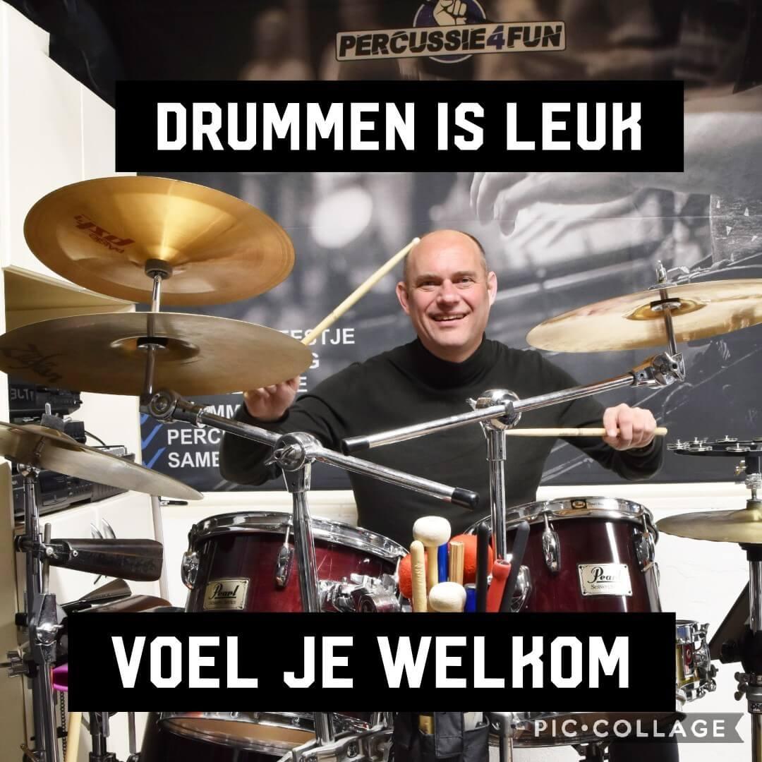 Drummen is een goede workout
